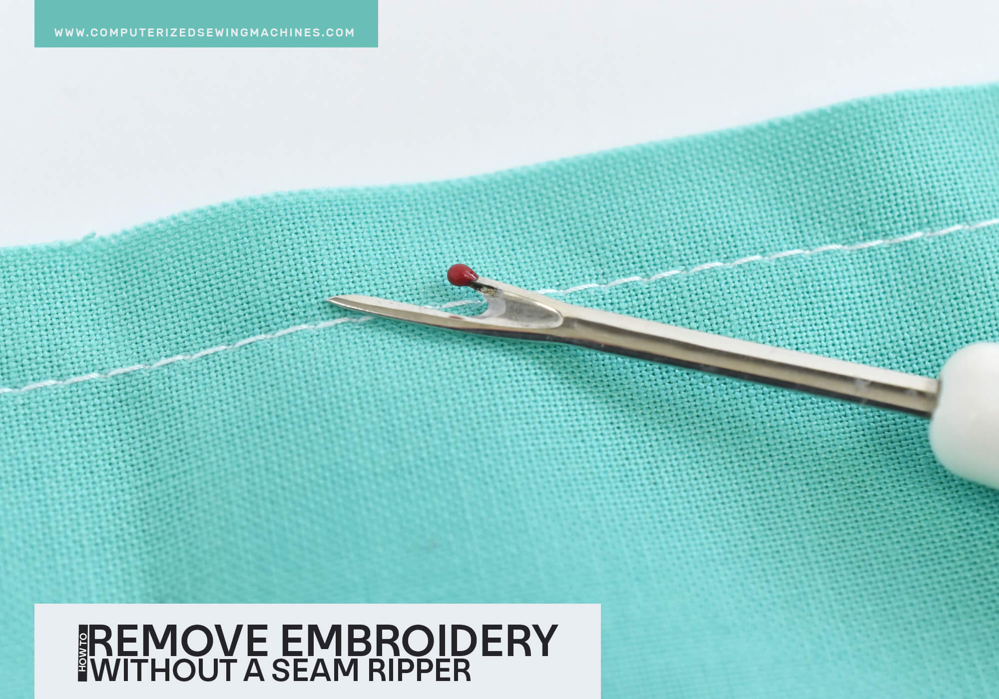 How To Remove Embroidery Without A Seam Ripper